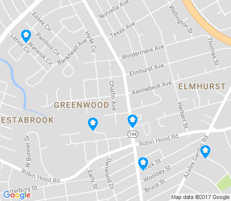 map of Greenwood-Elmhurst apartments for rent