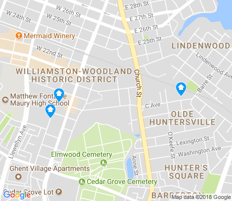 map of Huntersville apartments for rent