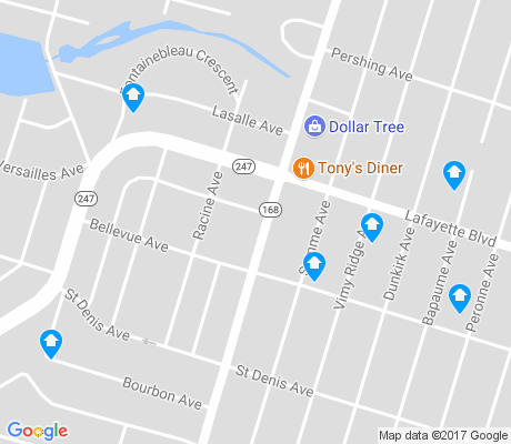 map of Lafayette-Winona apartments for rent