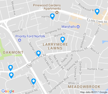 map of Larrymore Lawns apartments for rent
