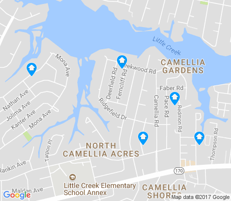 map of North Camellia apartments for rent