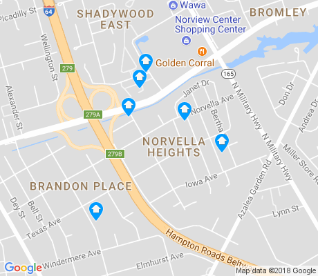 map of Norvella Heights apartments for rent