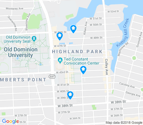 map of ODU Village apartments for rent