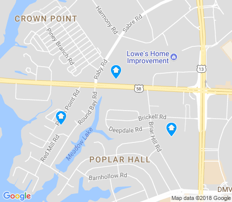 map of Poplar Hills apartments for rent