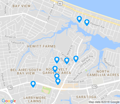 map of Roosevelt Area apartments for rent