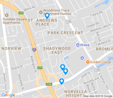 map of Shadywood East apartments for rent
