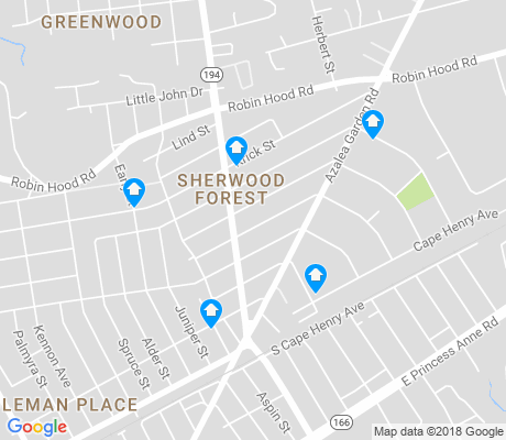 map of Sherwood Forest apartments for rent
