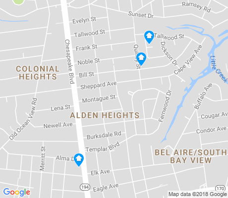 map of South Bayview apartments for rent