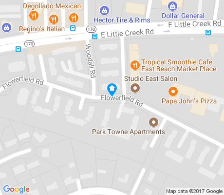 map of South Camellia apartments for rent