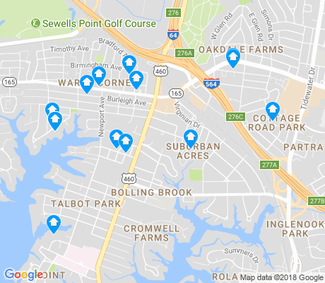map of Suburban apartments for rent
