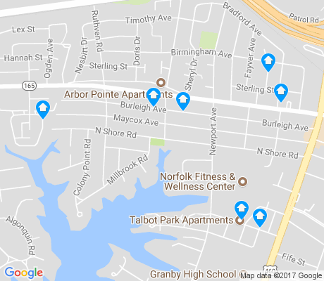 map of Wards Corner apartments for rent