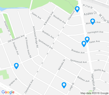 map of West Ghent apartments for rent