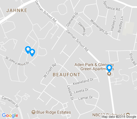 map of Beaufont apartments for rent