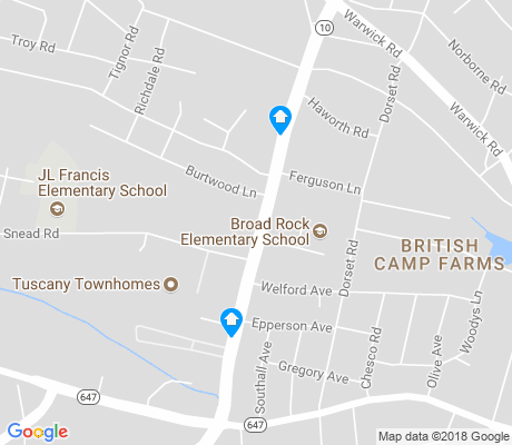 map of British Camp Farms apartments for rent