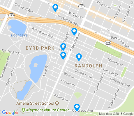 map of Byrd Park apartments for rent