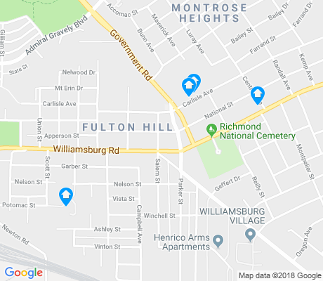 map of Fulton apartments for rent
