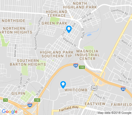 map of Highland Park Southern Tip apartments for rent