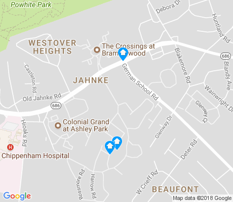 map of Jahnke apartments for rent