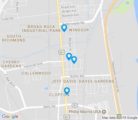 map of Jeff Davis apartments for rent