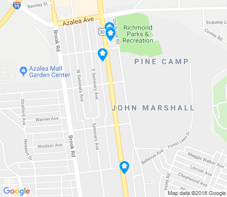 map of John Marshall apartments for rent