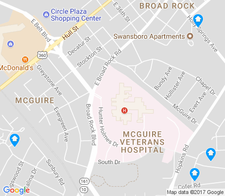 map of McGuire apartments for rent