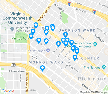 map of Monroe Ward apartments for rent