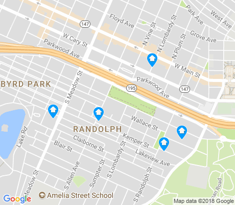 map of Randolph apartments for rent
