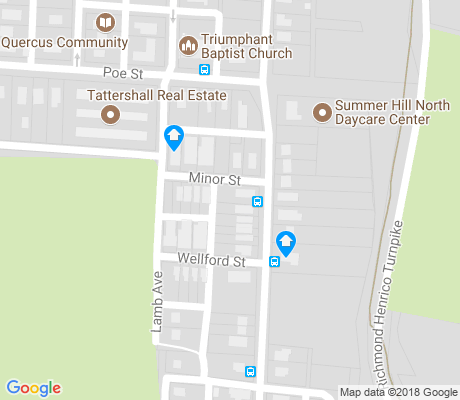 map of Southern Barton Heights apartments for rent