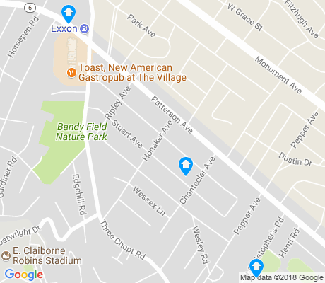 map of Three Chopt apartments for rent