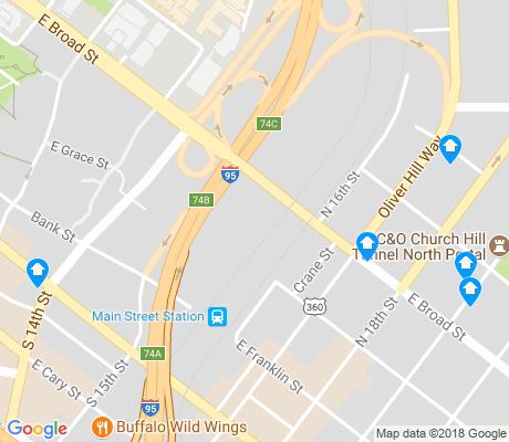 map of Upper Shockoe Valley apartments for rent
