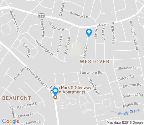 map of Westover apartments for rent