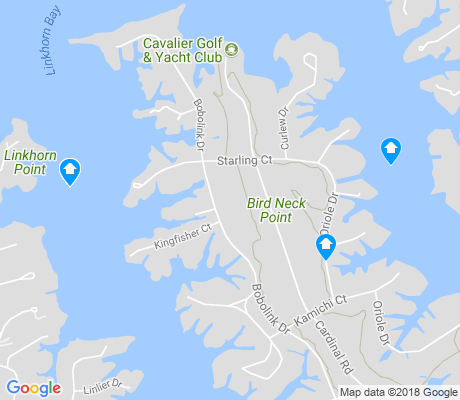 map of Birdneck Point apartments for rent