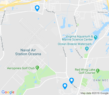 map of Naval Air Station Oceana apartments for rent