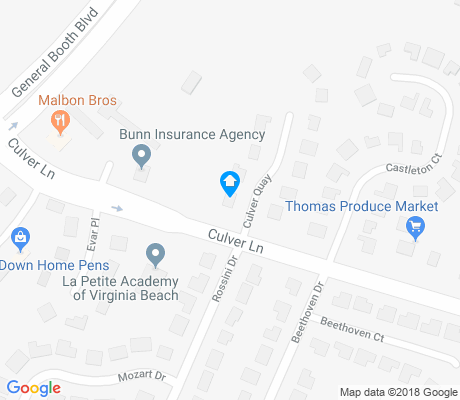 map of Ocean Lakes apartments for rent