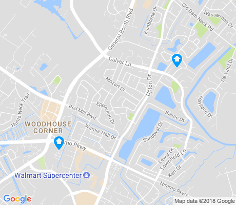 map of Red Mill Farm apartments for rent