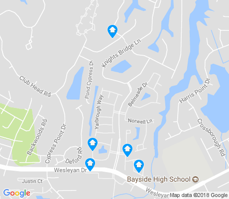 map of Ridgely Manor apartments for rent