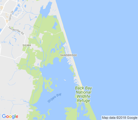 map of Sandbridge apartments for rent