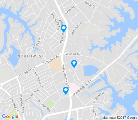 map of Witchduck apartments for rent