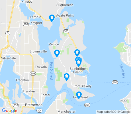 map of Bainbridge Island apartments for rent