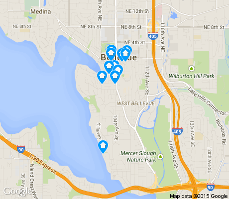 map of Meydenbauer apartments for rent
