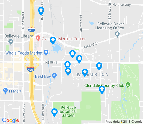 map of Wilburton apartments for rent