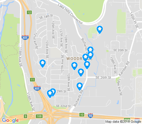 map of Woodridge apartments for rent