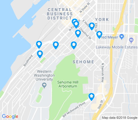 map of Sehome apartments for rent