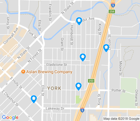map of York apartments for rent
