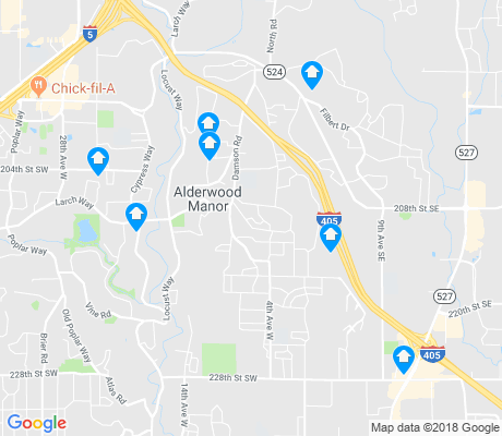 map of Bothell West apartments for rent