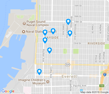 map of Bayside apartments for rent