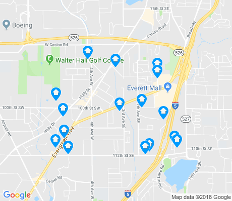 map of Everett Mall South apartments for rent
