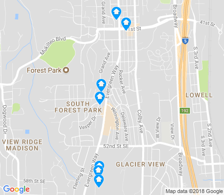 map of Glacier View apartments for rent