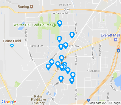 map of Holly apartments for rent