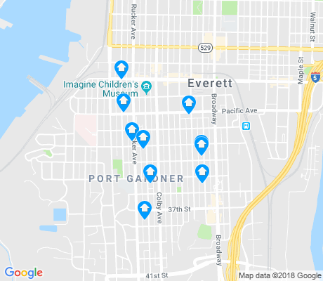 map of Port Gardner apartments for rent